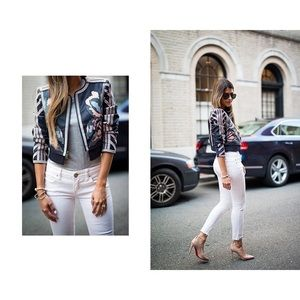 •Free People• White Ankle Destroyed Skinny Jeans